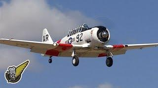 Loud Radial Engined Harvard Trainers Rumble Overhead
