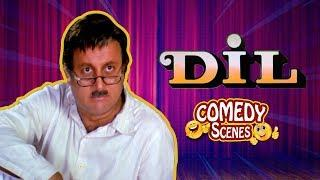 Best comedy scenes - Dil (1990) Movie - Aamir Khan - Madhuri Dixit - Anupam Kher