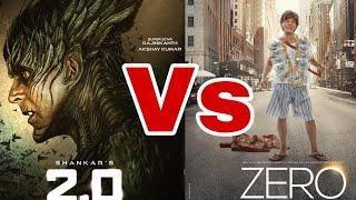 """Zero Vs 2.0 "", Akshay Kumar Vs ShahRukh Khan, Full Movie Comparison, Budget, Box Office Collection"