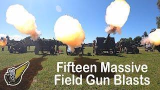 Massive Field Gun Blasts at Armistice Commemoration