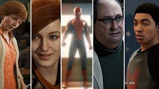 Spider man Ps4 2018 All Cut Scenes And Ending - Including Secret Endings - Cinematic Full Movie