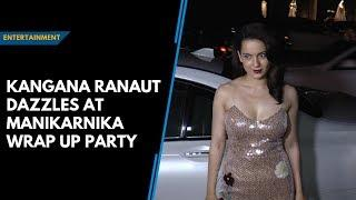 Kangana Ranaut dazzles at Manikarnika wrap up party