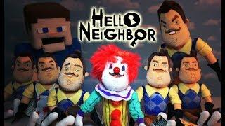 Hello Neighbor Mini Plush Clown Funko Jumpscare Unboxing SCARY Toys Review Game Trailer Puppet Steve