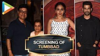 UNCUT: Sohum Shah, Sachin Pilgaonkar & Amruta Khanvilkar @Special Screening of Tumbbad