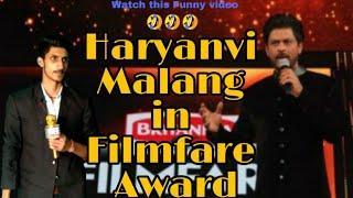 Haryanvi Malang in Filmfare Award !Comedy Show! Lovish Arnaicha!