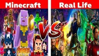 Minecraft VS Real Life - SUPERHERO MOVIES!