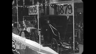 1929 - History parade to celebrate 50 years of Edison's electric light (real sound)