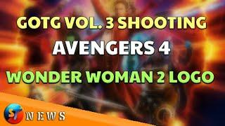 ST_NEWS #01 - GOTG VOL. 3 Shooting , Wonder Woman 2 Logo, Avengers 4, Deadpool R-Rated ETC.