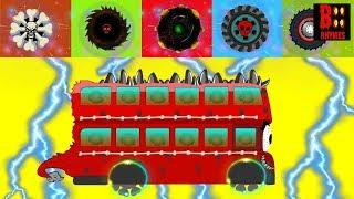 Wrong Colors & Wheels Monster #W - Scary Street Vehicles For Kids - Rock Truck, Bus, Dump Truck, SUV