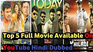 Top 5 Hindi Dubbed Full Movie Available Now On YouTube | Shourya | Dadagiri 2 | Dashing Khalidi