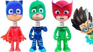 Wrong heads pj masks learn colors spring heads cool history video for kids