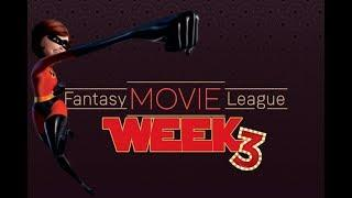 Fantasy Movie League Week 3: The Incredible take the Weekend!