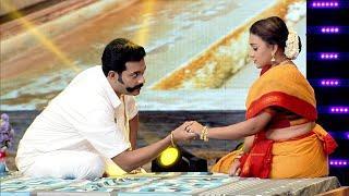 Thakarppan Comedy l Jishin & Varadha  with 'Inji Iduppazhagi' song... l Highlights