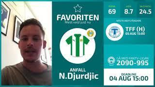 FanTV Allsvenskan Fantasy Deadline: Gameweek 14