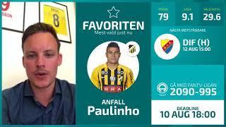 FanTV Allsvenskan Fantasy Deadline: Gameweek 15