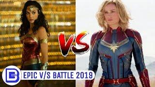 Captain Marvel Vs Wonder Woman | Superhero Showdown In Hindi | BlueIceBear