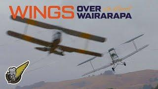 Two Vintage Biplanes Cavorting Together  - Skilled Pilots