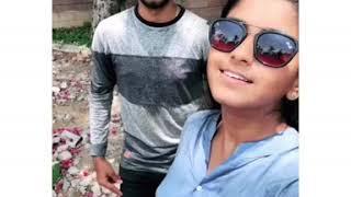 Abarna Sundarraman and Actor Praneshvar Dubsmash | Badri movie comedy | Nanbenda santhanam | Abarna