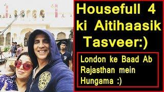 Akshay Kumar And Farah Khan At Housefull 4 Historic Set