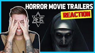 REACTING TO NEW HORROR TRAILERS 2018 *SCARY* | thatsNathan
