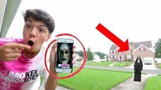 """PRANK CALLING """"THE NUN"""" SHE ANSWERED! *SO SCARY* SHE CAME TO MY HOUSE!"""