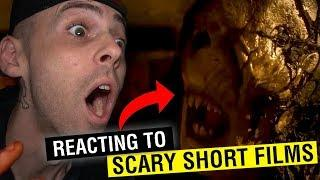 REACTING TO THE MOST SCARY SHORT FILMS ON THE INTERNET (DO NOT WATCH AT 3AM)