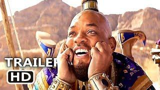 "ALADDIN ""Happy Genie"" Trailer (NEW 2019) Will Smith, Disney Movie HD"