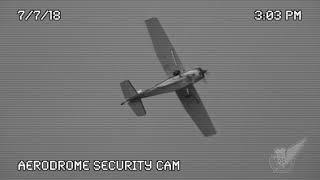 Cessna 185 Caught On Security Camera Diving And Banking