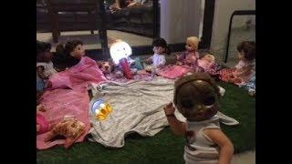 BABY ALIVE: Have a sleep over outside! Scary stories come real!?! Baby alive horror Film