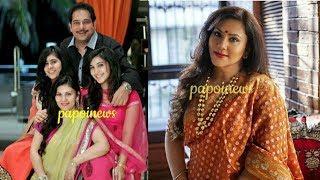 Ramayan Actress Dipika Chikhalia with Husband & Daughters