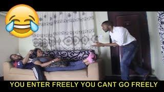 YOU ENTER FREELY YOU CANT GO FREELY - Latest 2018 Nigerian Comedy| Nigerian Comedy Skits|Comedy 2018