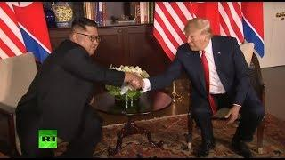 Historic summit: Donald Trump & Kim Jong Un meet in Singapore