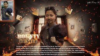 Movie poster Bounty Hunter : Film Happy Channel : Photoshop Fantasy Tutorial (7ack Fantasy Art)