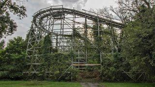 Abandoned 1970's Vintage Amusement Park - Climbed Wooden Roller Coaster
