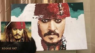 Drawing captain Jack Sparrow in Pirates of the Pirates of the Caribbean | Rookie Art