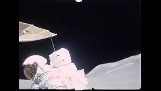 Historical NASA film footage of Apollo 15