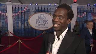 Mary Poppins Returns LA World Premiere - Itw Kobna Holdbrook Smith (official video)