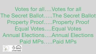 Kennington Chartist Project Song (practice film)