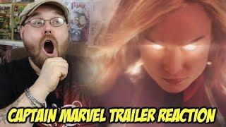 Captain Marvel Official Trailer REACTION!!!