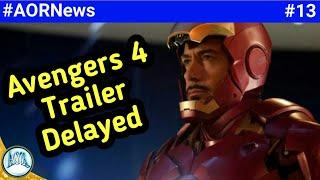 Avengers 4 trailer delayed,   Marvel new SuperHero movie, killmonger origin comic book || AORNews13