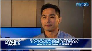 Benjamin Alvares, Gaganap bilang si Lt. Manuel L. Quezon sa Biopic film na Goyo: Ang Batang Heneral
