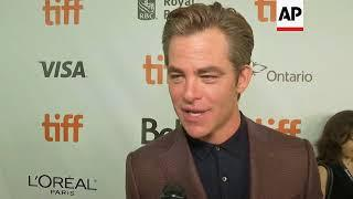 "Chris Pine walks TIFF red carpet for opening film, ""Outlaw King"""