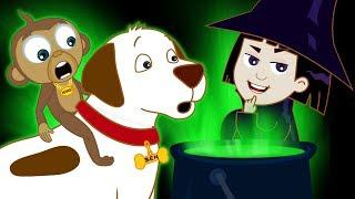 Halloween | Learn Colors with the Scary Witch's Brew | Educational Videos for Kids by Annie and Ben
