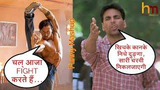 Akshay Kumar Vs Tiger Shroff Fight + Comedy Mashup - Hindi Mashup