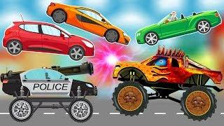 Good VS Evil Police Car Scary Monster Truck for kids | Learn Street Vehicles Names | Car & Truck