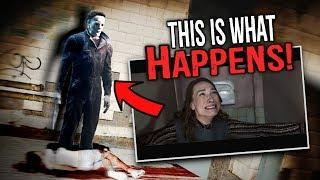 Michael Myers Cubicle Attack Scene... THIS IS WHAT HAPPENS! (Halloween Michael Myers Roleplay)