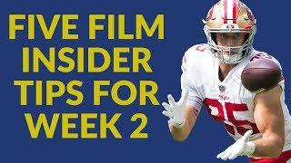 Top 5 Fantasy Football Film Insider Tips… And George Kittle Is A Budding Star