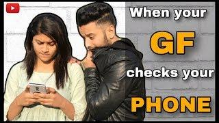 WE vines : when your GF checks your PHONE | Comedy vines | Hindi vines india