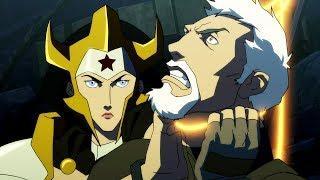 Wonder Woman Killed Steve Trevor - Fight Scene   Justice League: The Flashpoint Paradox