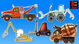 Scary Monster Street Vehicles | Learn Construction Vehicles Names
